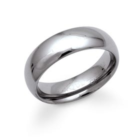 Polished Tungsten Carbide 7mm Ring