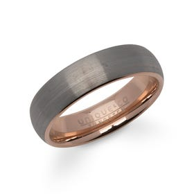 Rose Gold Plated Tungsten Carbide 6mm Ring