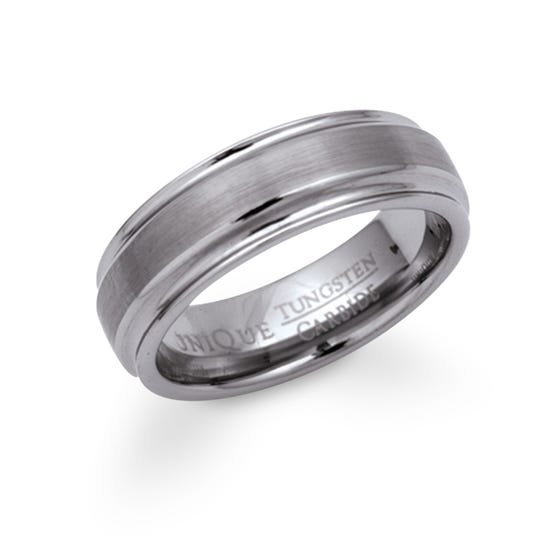Tungsten 7mm Carbide Ring