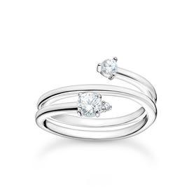 Silver CZ Arrow Ring