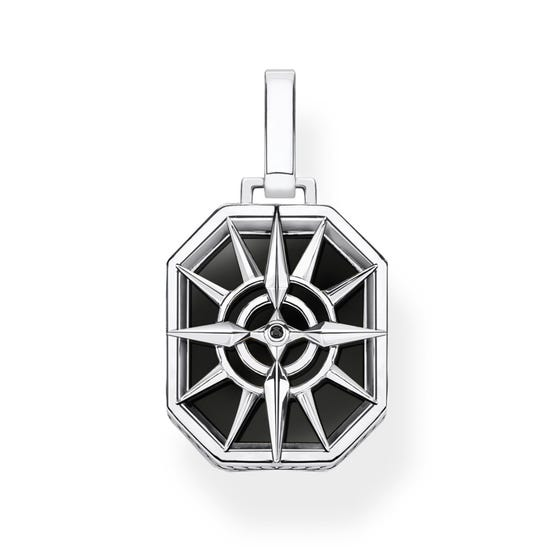 Rebel Silver Star Compass Pendant