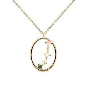Gold Plated Aries Constellation Necklace