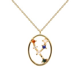 Gold Plated Taurus Constellation Necklace