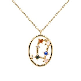 Gold Plated Gemini Constellation Necklace
