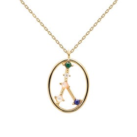 Gold Plated Cancer Constellation Necklace