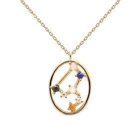 Gold Plated Leo Constellation Necklace