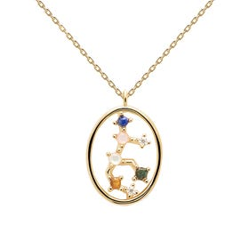 Gold Plated Virgo Constellation Necklace