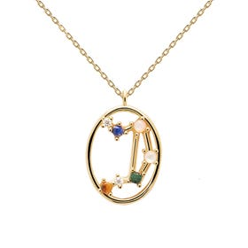 Gold Plated Libra Constellation Necklace