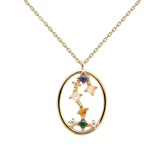Gold Plated Scorpio Constellation Necklace