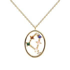 Gold Plated Capricorn Constellation Necklace