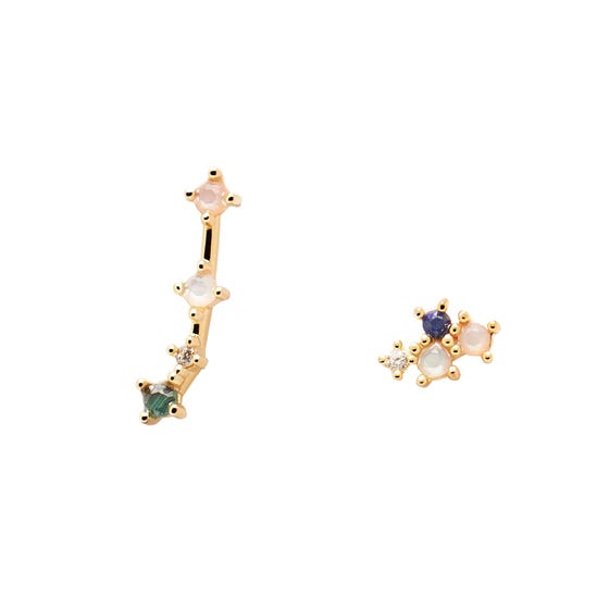 Gold Plated Aries Constellation Earrings