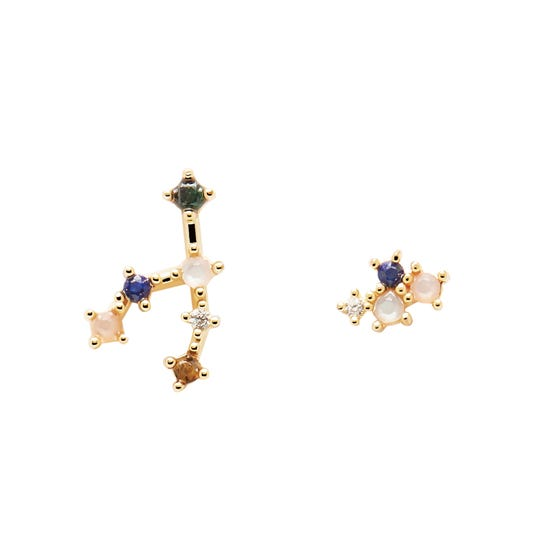 Gold Plated Taurus Constellation Earrings