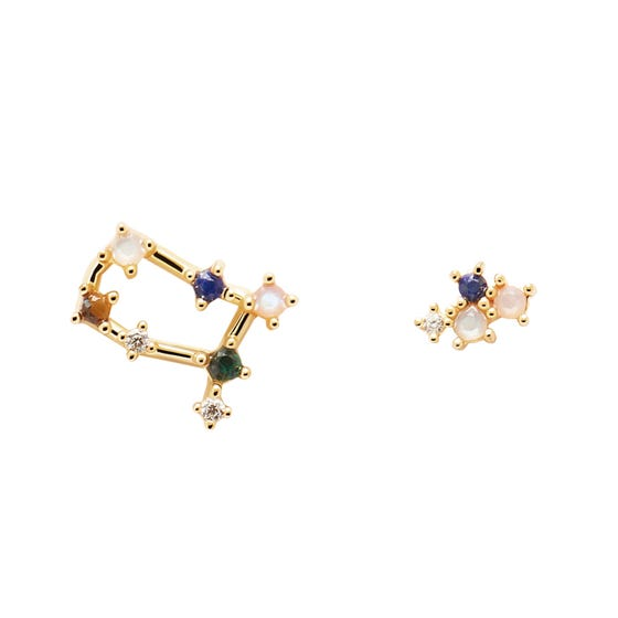 Gold Plated Gemini Constellation Earrings