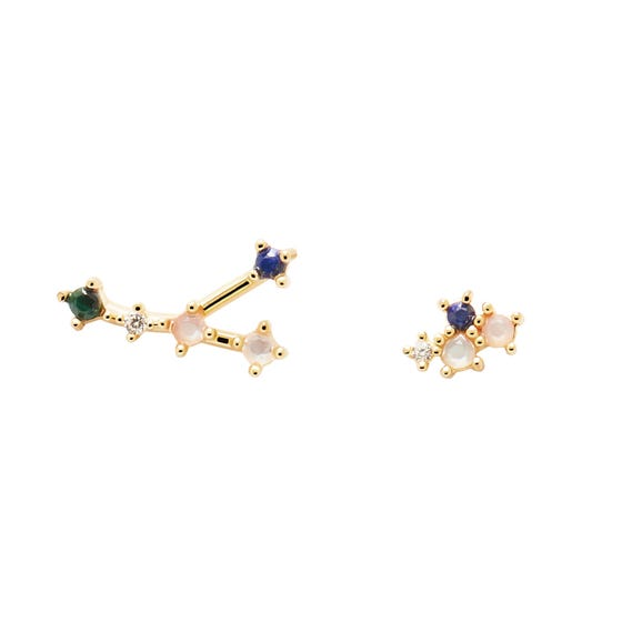 Gold Plated Cancer Constellation Earrings