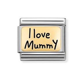 Classic Gold I Love Mummy Charm