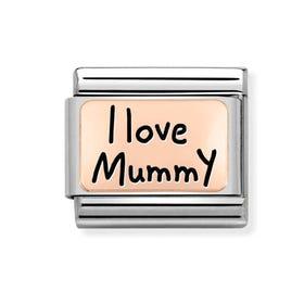 Classic Rose Gold I Love Mummy Charm