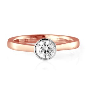 9ct Rose Gold 0.25ct Diamond Solitaire Ring