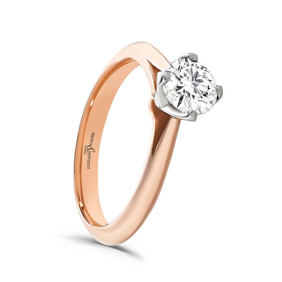 9ct Rose Gold 0.33ct Diamond Solitaire Ring