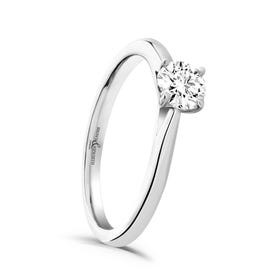 9ct White Gold 0.40ct Diamond Solitaire Ring