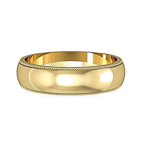 9ct Gold D-Shaped Wedding 5mm Ring - Sample