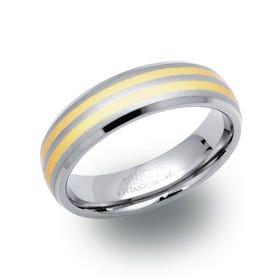 Titanium & 14ct Gold 6mm Ring - Sample
