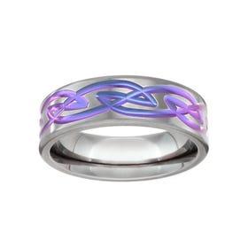 Zirconium Celtic Detail 7mm Ring