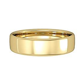 9ct Gold Bombe Court Wedding 5mm Ring
