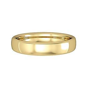 18ct Gold Bombe Court Wedding 4mm Ring
