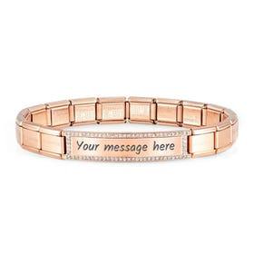 Classic Trendsetter New York Rose Plated CZ Bracelet