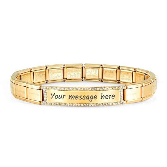 Classic Trendsetter New York Gold Plated CZ Bracelet
