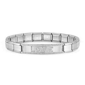 Classic Trendsetter New York Steel Love CZ Bracelet