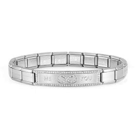 Classic Trendsetter New York Steel Me & You Infinity CZ Bracelet