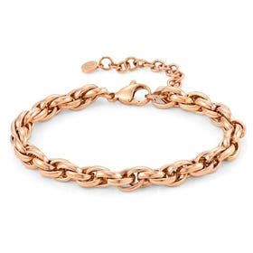 Silhouette Rose PVD Plated Link Bracelet