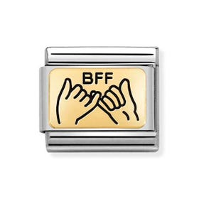 Classic Gold BFF Pinky Promise Charm
