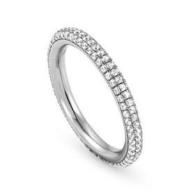 Endless Silver CZ Ring