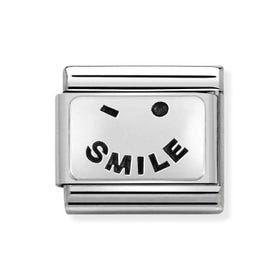 Classic Silver Smile Charm