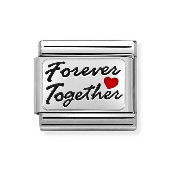 Classic Silver Forever Together with Heart Charm