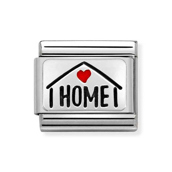 Classic Silver Home with Heart Charm