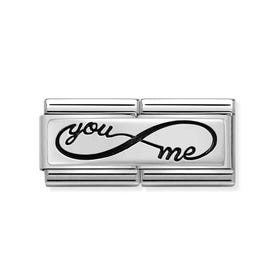 Classic Silver You & Me Infinity Double Charm