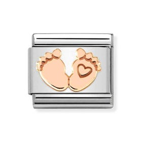Classic Rose Gold Baby Feet Charm