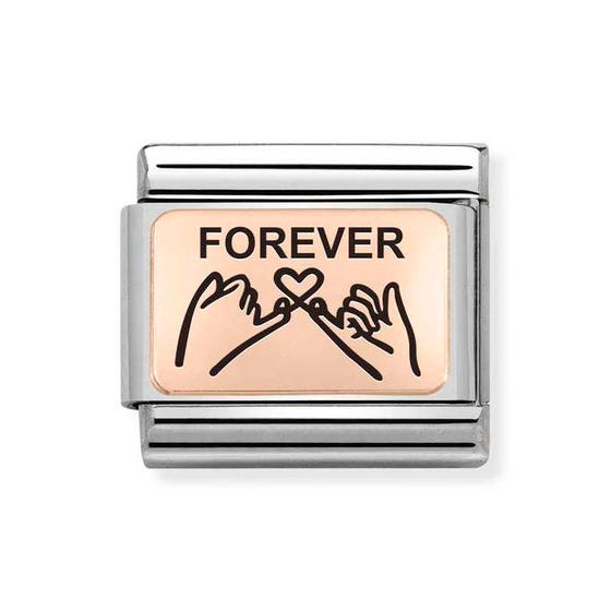 Classic Rose Gold Forever Pinky Promise Charm