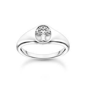 Silver Tree of Life Signet Ring