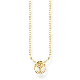 Gold Plated CZ Tree of Life Necklace
