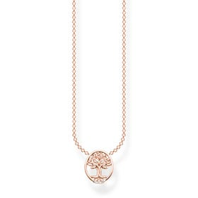 Rose Gold Plated CZ Tree of Life Necklace