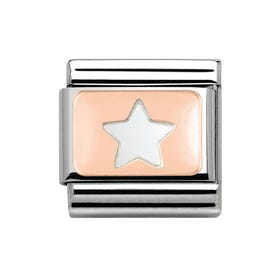 9ct Rose Gold Star Classic Charm