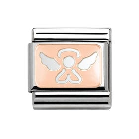 9ct Rose Gold Angel Classic Charm