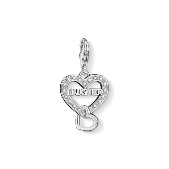 Daughter Love Heart Charm