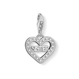 Sister Love Heart Charm