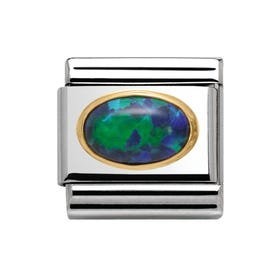 Gold Opal Stone Classic Charm