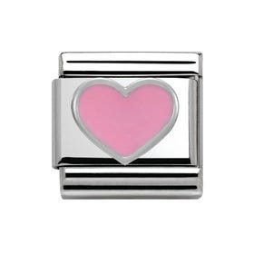 Pink Heart Classic Charm